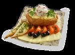 Картофель Премиум с моцареллой и томатами