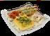 Омлет с сыром, ветчиной и томатами
