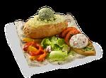 Картофель Премиум с фетой и печеным перцем